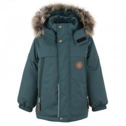 Lenne Micah удлиненная куртка парка для мальчика зелёная 20337-423