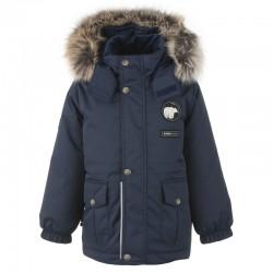 Lenne Moss удлиненная куртка парка для мальчика тёмно-синяя 20339-229