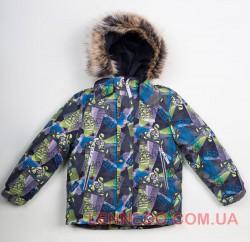 Lenne Alex зимняя куртка для мальчика серая