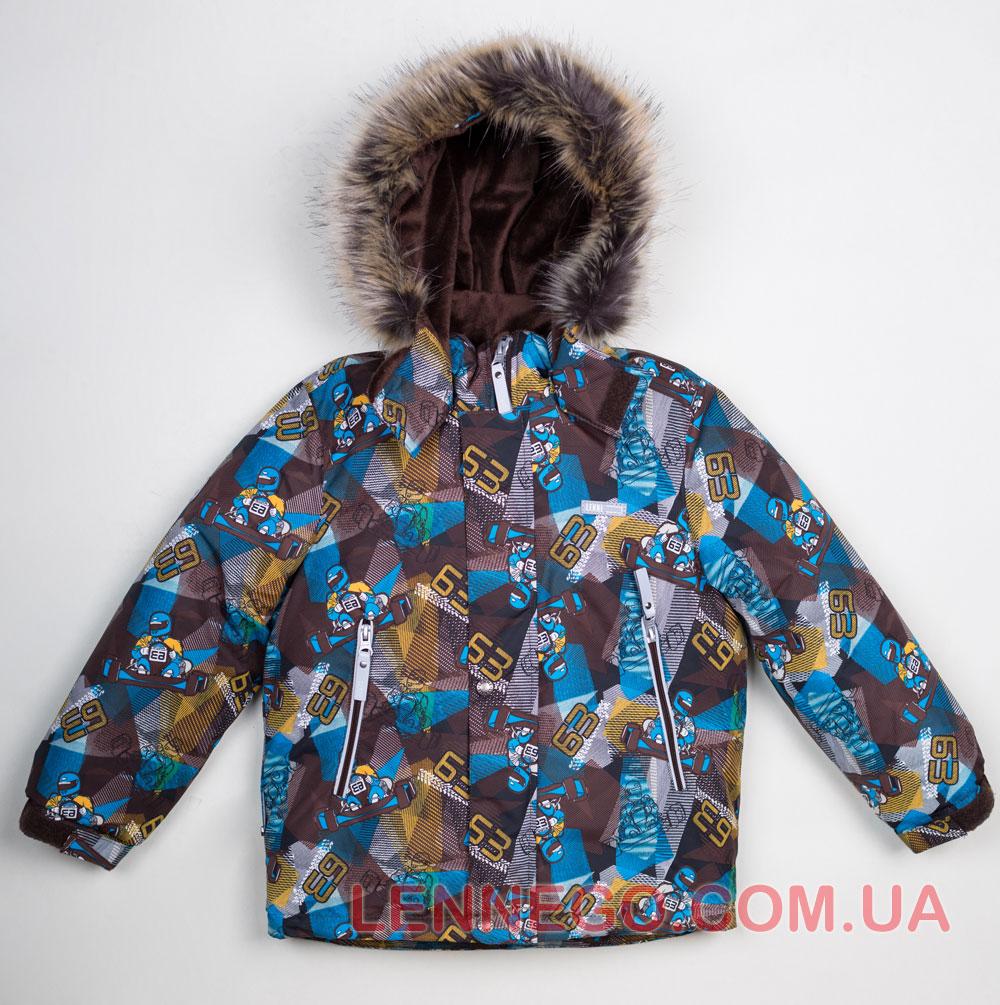 Lenne Alex зимняя куртка для мальчика коричневая