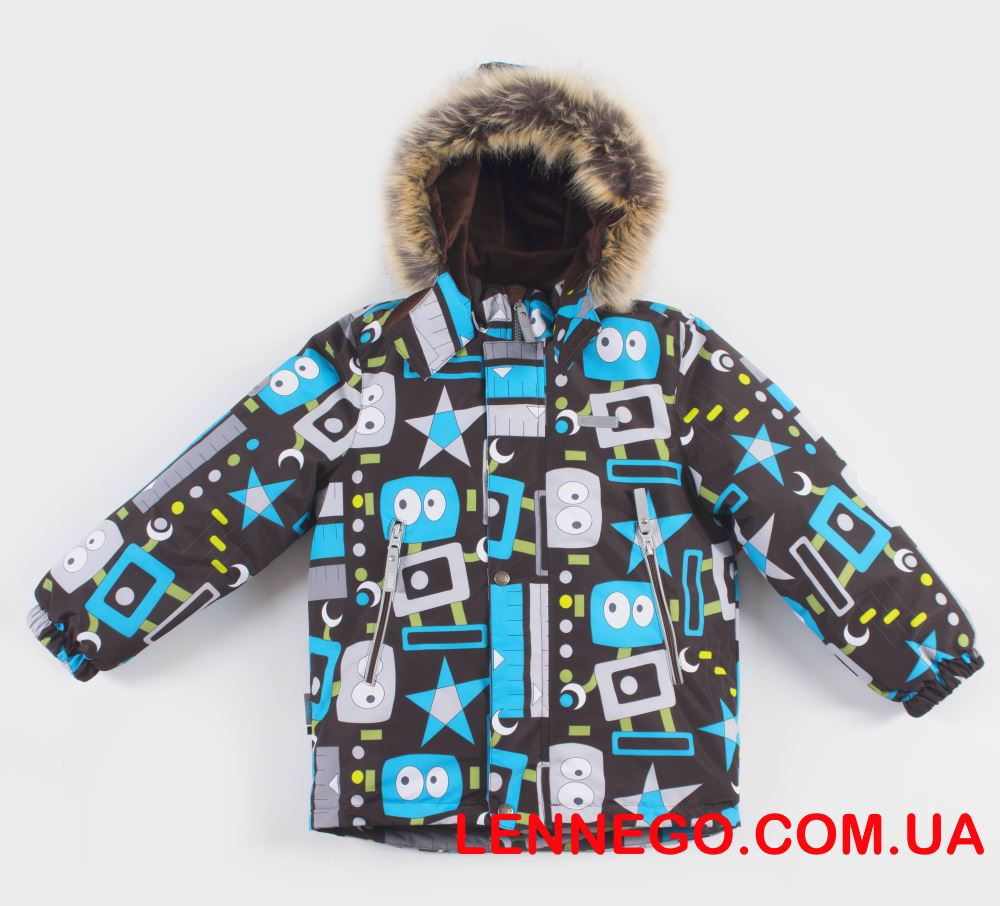 Lenne Alexi зимняя куртка для мальчика коричневая