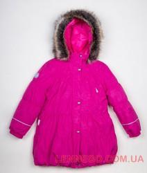 Lenne Alice пальто для девочки малиновое