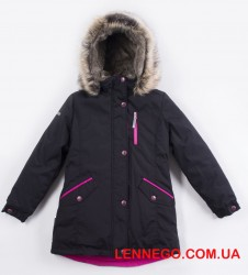 Зимняя куртка парка для девочки lenne angel 19362/042 чёрная