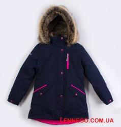 Lenne Angel куртка парка для девочки тёмно-синяя подросток