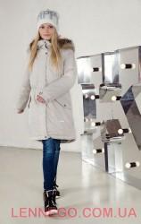 Lenne Barby куртка парка для девочки бежевая, подросток