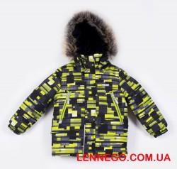 Lenne City зимняя куртка для мальчика салатовая