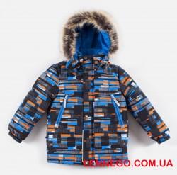 Lenne City зимняя куртка для мальчика оранжево-серая