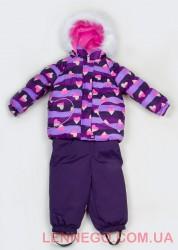 Зимний комплект для девочки (куртка+полукомбинезон) Lenne Elsa 18318A/1630 фиолетовый