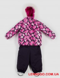 Зимний тёплый костюм для девочки lenne elsa 19318a/2640 розовый