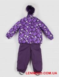 Зимний тёплый костюм для девочки lenne elsa 19318a/3600 фиолет