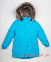Lenne Estella куртка парка для девочки бирюзовая
