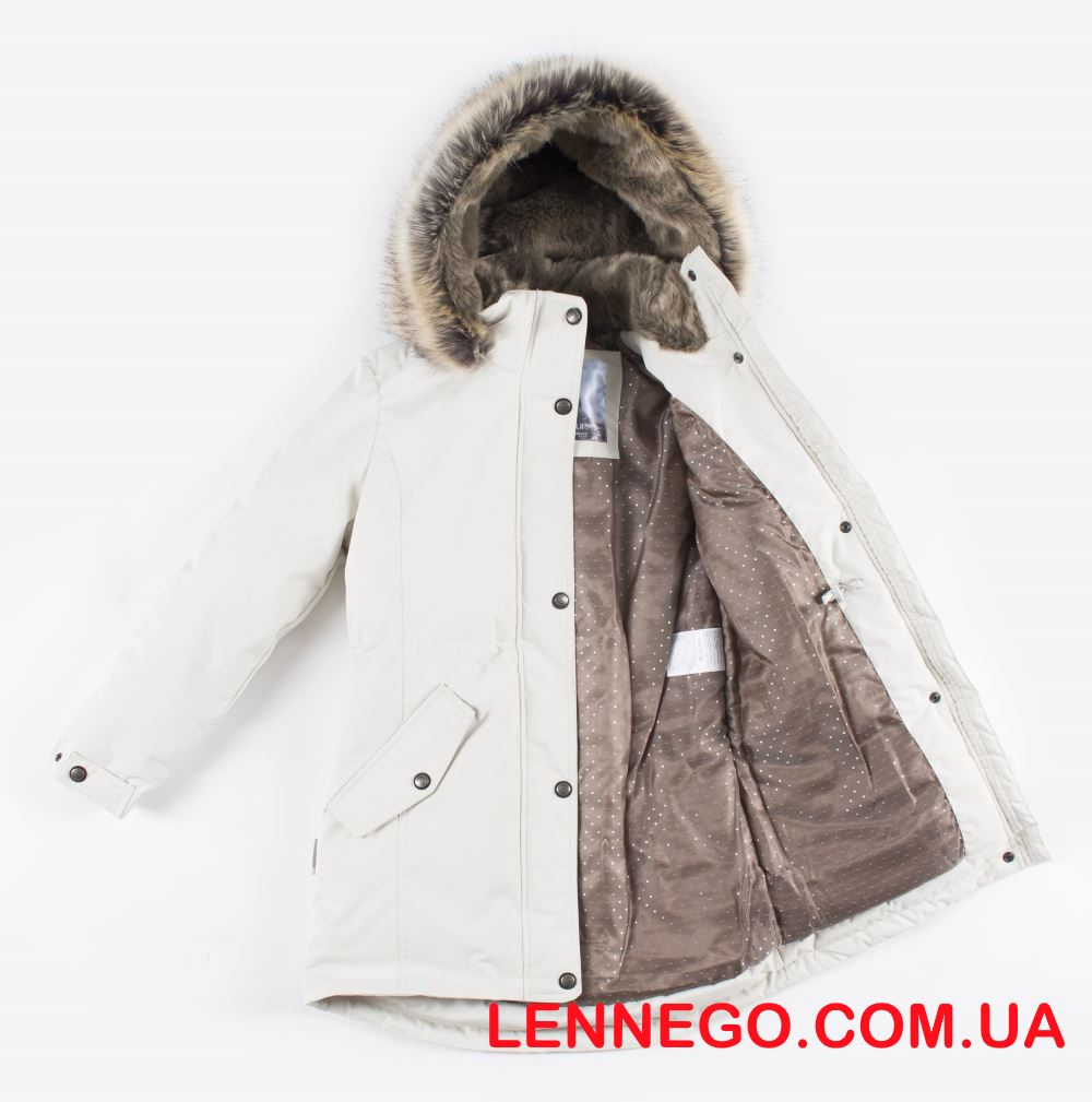 Lenne Estella куртка парка для девочки подросток бежевая
