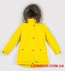Lenne Estella куртка парка для девочки подросток жёлтая