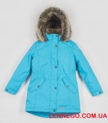 Lenne Estella куртка парка для девочки подросток бирюзовая