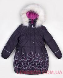 Зимнее пальто для девочки Lenne Estelle 18334/9870 серое