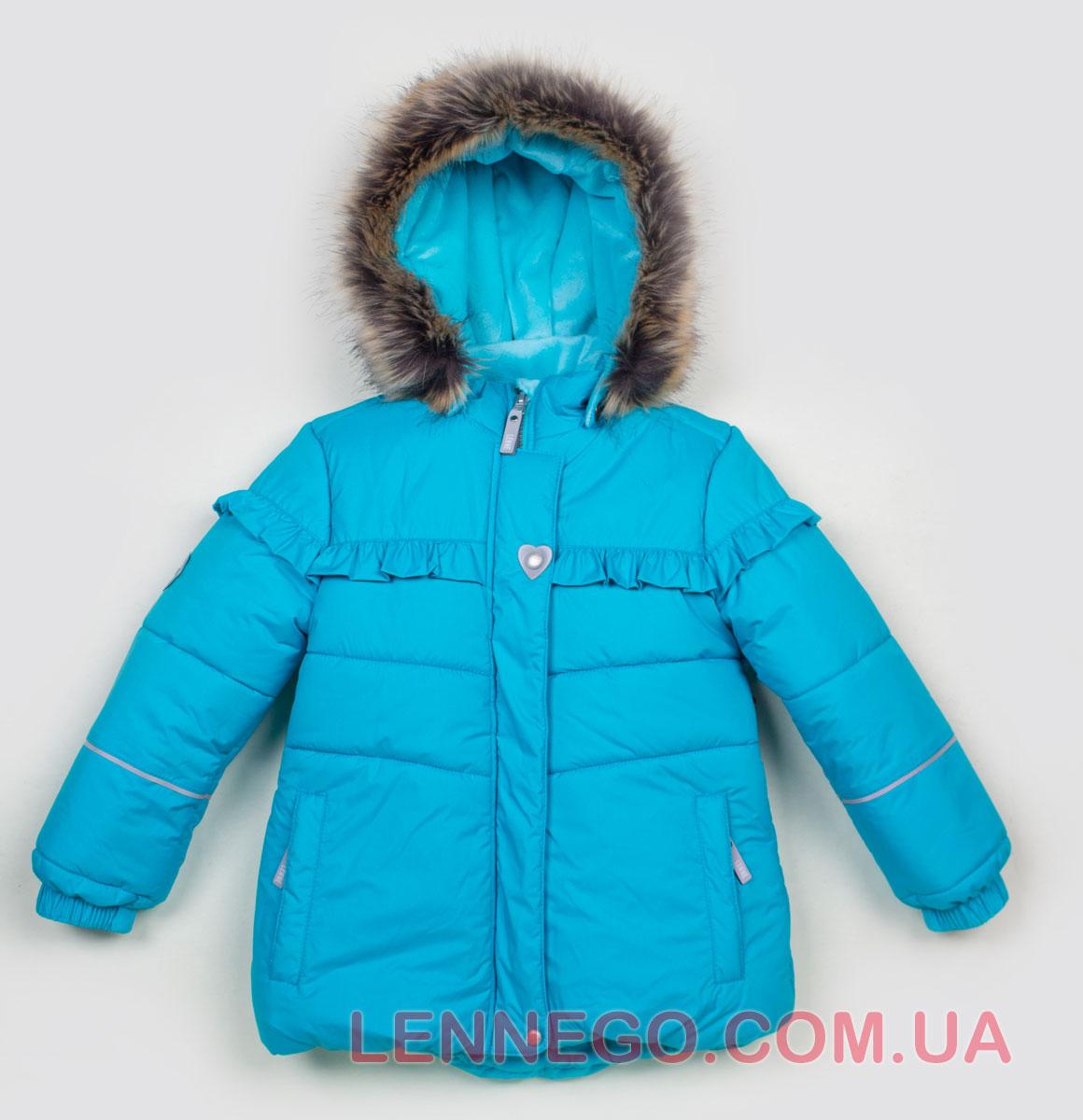 Lenne Fanny куртка для девочки бирюзовая