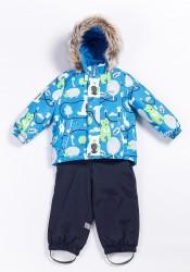 Зимний костюм для мальчика lenne forest 20315/6589 голубой