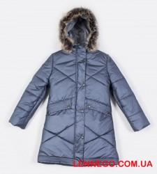 Lenne Gudrun пальто для девочки тёмный металлик