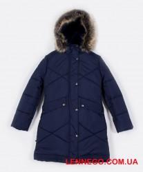 Купить зимнее пальто для девочки Lenne Gudrun 19365/229 синие