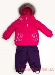 Зимний комплект для девочки (куртка+полукомбинезон) Lenne Hearty 18316/261