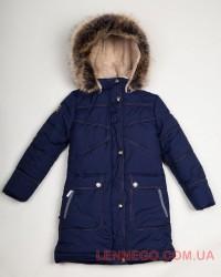 Зимнее пальто для девочки Lenne Isadora 18365/229 синие