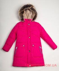 Купить зимнее пальто для девочки Lenne Isadora 18365/261 малиновое