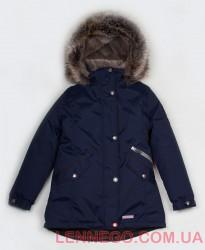Зимняя куртка парка для девочки Lenne Joyla 18362/229 темно-синяя