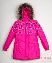 Зимнее пальто для девочки Lenne Keira 18364/2619 малиновое