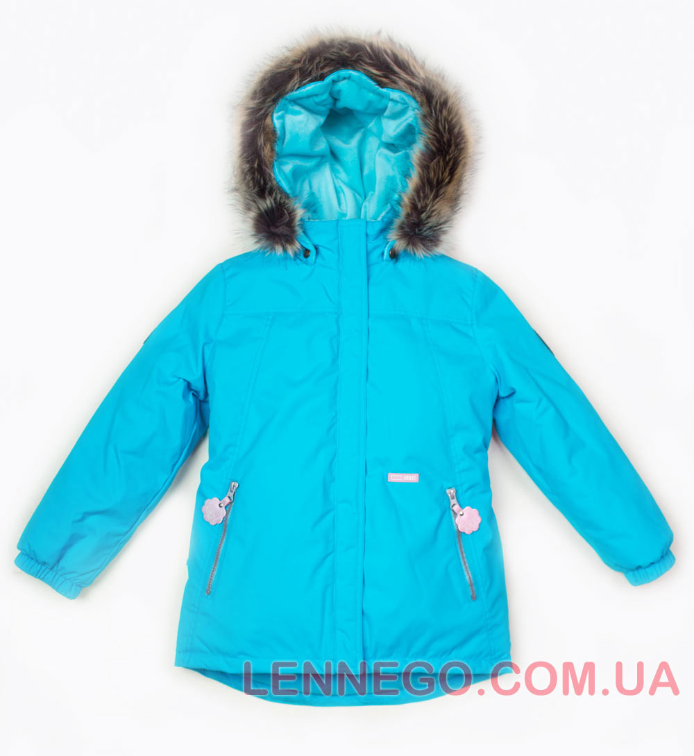 Lenne Marion удлиненная куртка парка для девочки бирюзовая