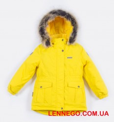 Зимняя куртка для девочки lenne maya 19330/117 жёлтая