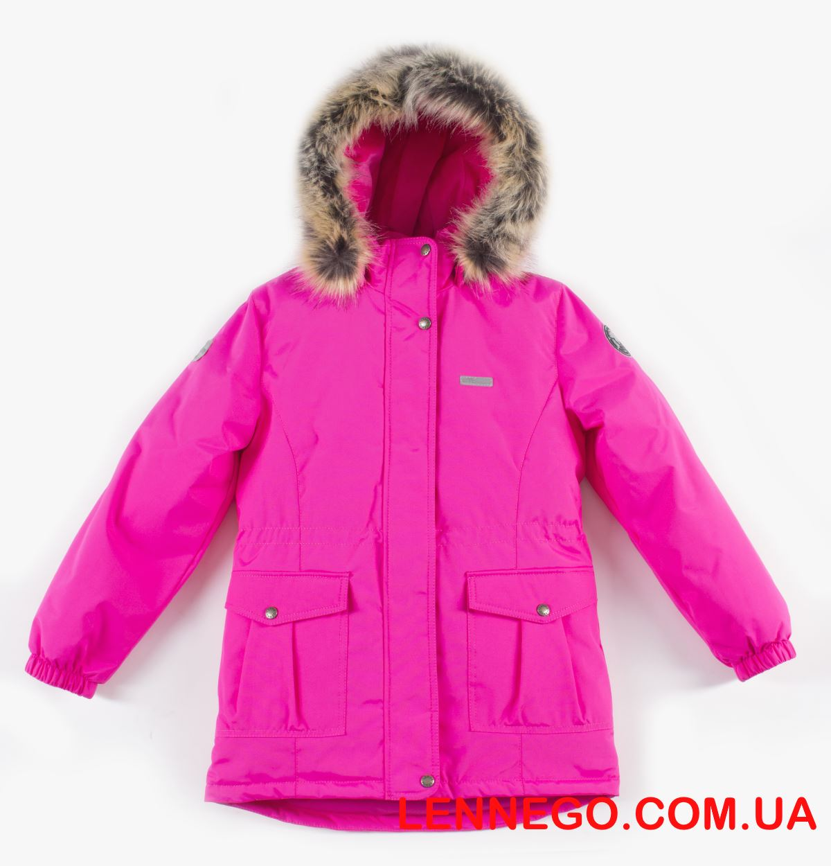 Lenne Maya удлиненная куртка парка для девочки розовая