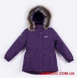 Зимняя куртка для девочки зима 2019-2020 lenne maya 19330/608 баклажан