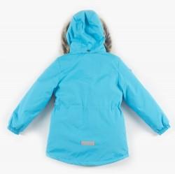 Lenne Maya удлиненная куртка парка для девочки бирюзовая