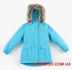 Зимняя куртка для девочки lenne maya 19330/663 бирюзовая