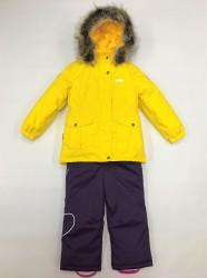 Lenne maya heily комплект для девочки жёлтый баклажан