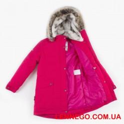 Lenne Melody куртка парка для девочки подросток ягодная