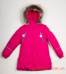 Зимнее пальто для девочки Lenne Miia 18328/261 малиновое