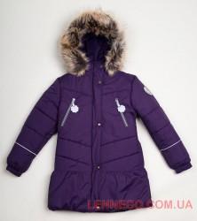 Зимнее пальто для девочки Lenne Miia 18328/261 баклажан
