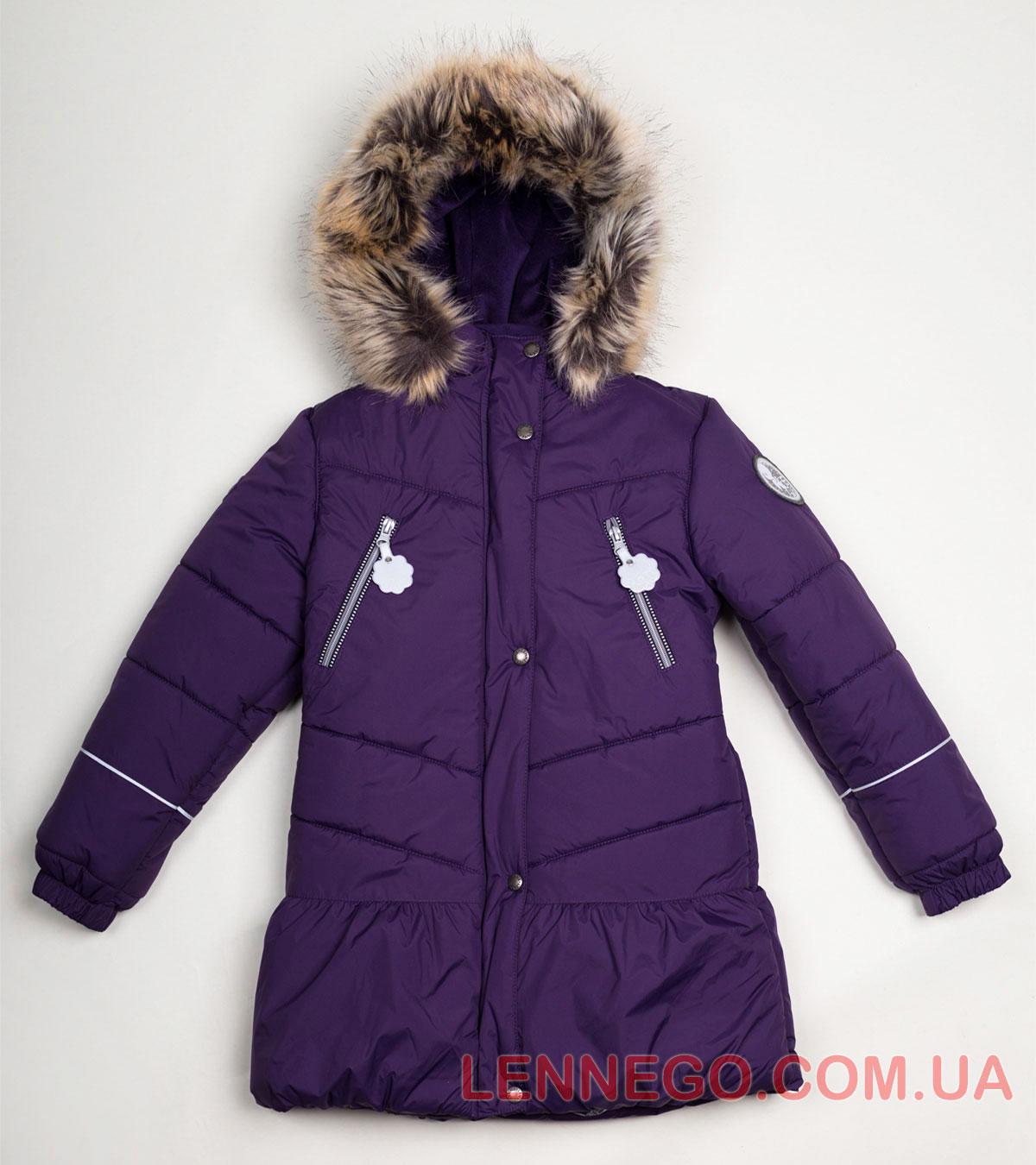 Lenne Miia пальто для девочки баклажан