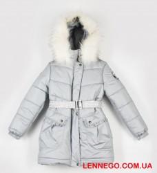 Lenne Milla пальто для девочки металлик