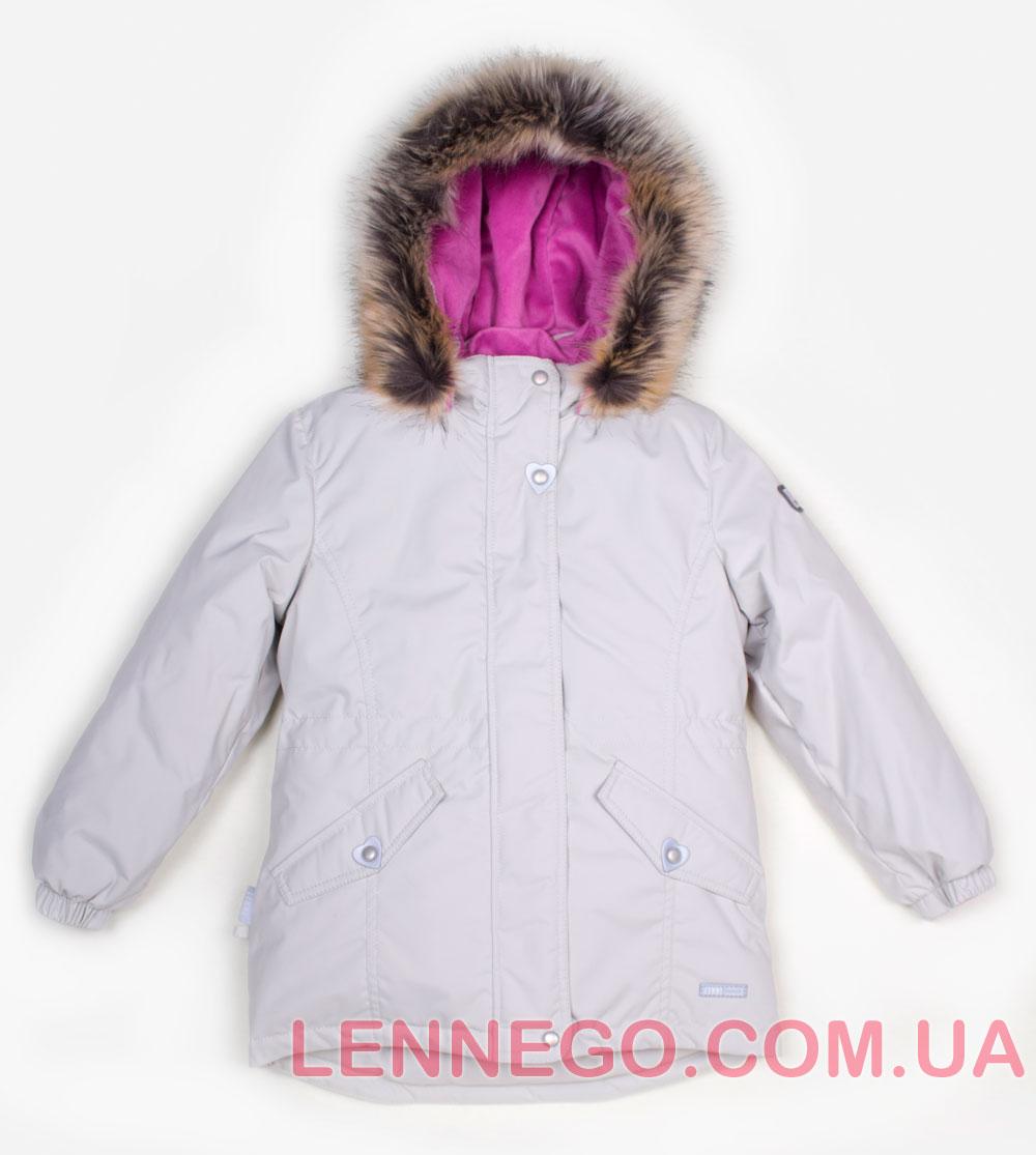 Lenne Milly удлиненная куртка парка для девочки бежевая