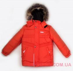 Зимняя теплая куртка для мальчика lenne milo 18337/455 оранжевая