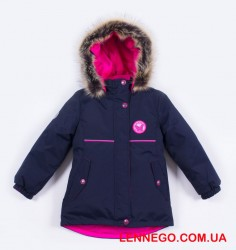 Lenne Miriam удлиненная куртка парка для девочки тёмно-синяя