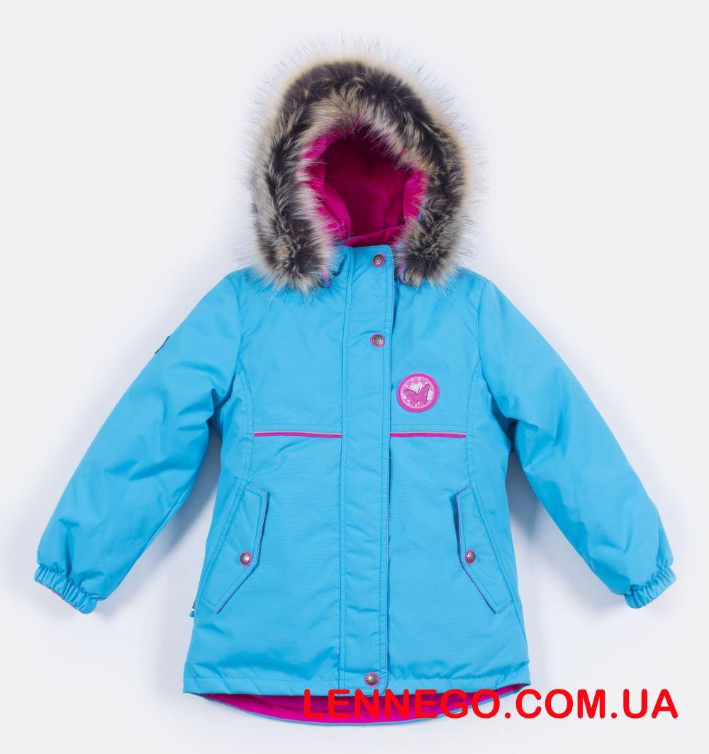 Lenne Miriam удлиненная куртка парка для девочки бирюзовая