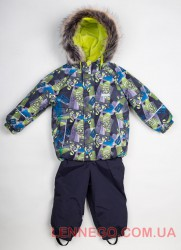 Теплый зимний комплект для мальчика (куртка+полукомбинезон) lenne robert 18314/4700