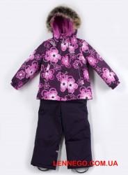 Купить теплый зимний костюм lenne rossa 19320c/6190 бордовый