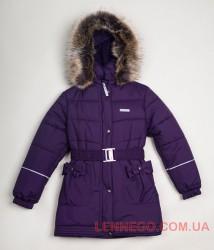 Зимнее пальто для девочки Lenne Sheryl 18335/612 баклажан