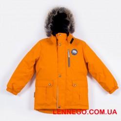 Зимняя парка для мальчика lenne snow 19341/453 оранжевая