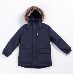 Зимняя куртка-парка для мальчика lenne snow 20341/229 тёмно-синяя