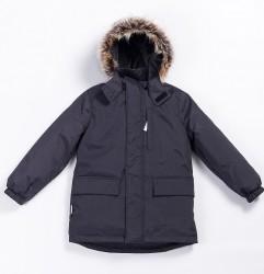Зимняя куртка-парка для мальчика lenne snow 20341/987 графит